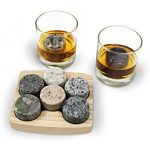 On The Rocks chills whiskies and other fine liquors to their ideal drinking temperature (about 59-Degree F) without adding unwanted taste or diluting the drink. The solid granite stays cold, ensuring a smooth and leisurely drinking experience. Ice cubes can also change the taste and odor of a drink as they melt and dilute the spirit.
